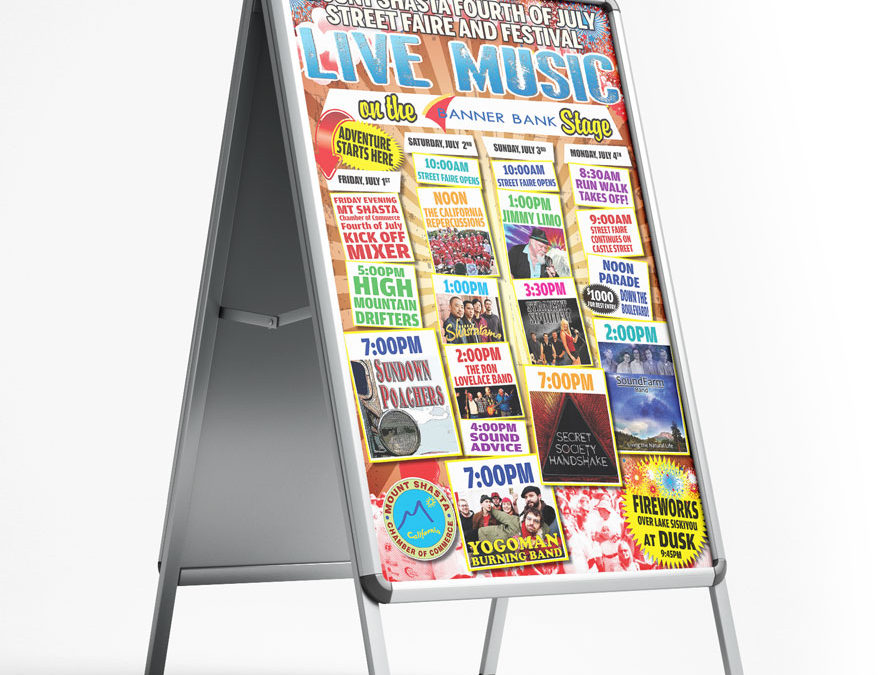 Fourth of July Live Music 2016 Poster